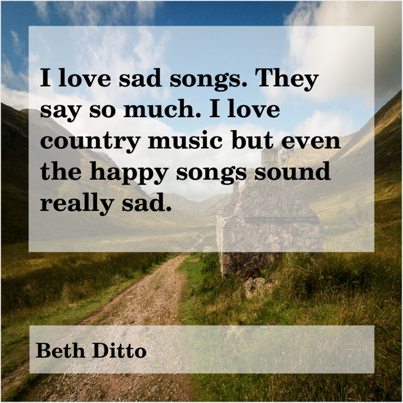 beth ditto i love sad songs they quote trumpet
