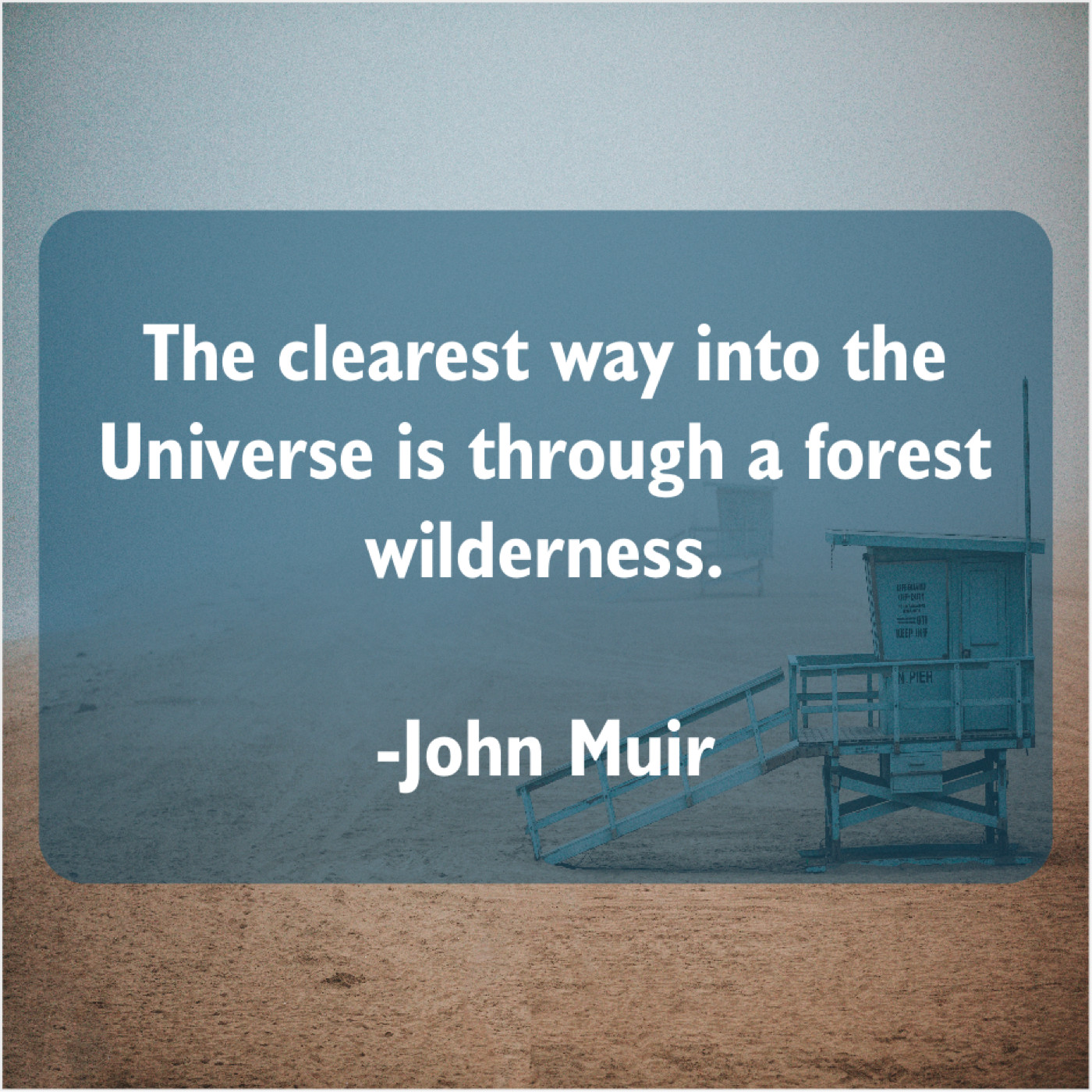 John Muir The Clearest Way Into The Quote Trumpet